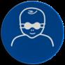 Veiligheidsbord M025 - Opaak oogbescherming verplicht voor kinderen