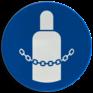 Veiligheidsbord M046 - Gasflessen vastzetten verplicht
