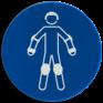 Veiligheidsbord M049 - Draag beschermende rollersportuitrusting
