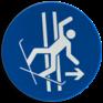 Veiligheidsbord M035 - Verlaat het sleepspoor onmiddellijk