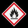 Veiligheidsbord GHS02 - Gevaar (zeer) licht ontvlambare stoffen