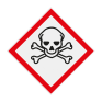 Veiligheidsbord GHS06 - Gevaar (zeer) giftige stoffen