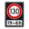 Verkeersbord A01130OB201ps - Maximum snelheid 130 km/h