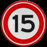 Verkeersbord A01-015 - Maximum snelheid 15 km/h