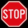 Verkeersbord B5 - Stoppen en voorrang verlenen