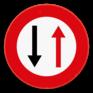 Verkeersbord B19 - Smalle doorgang voorrang verlenen aan de bestuurders die uit de tegenovergestelde richting komen
