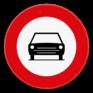 Verkeersbord C5 - Verboden toegang voor bestuurders van motorvoertuigen
