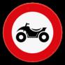 Verkeersbord C6 - Verboden toegang voor bestuurders van motorvoertuigen met vier wielen, geconstrueerd voor onverhard terrein