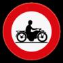 Verkeersbord C7 - Verboden toegang voor bestuurders van motorfietsen.