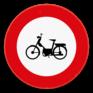 Verkeersbord C9 - Verboden toegang voor bestuurders van bromfietsen.