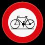 Verkeersbord C11 -  Verboden toegang voor bestuurders van rijwielen.