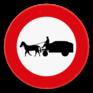 Verkeersbord C13 - Verboden toegang voor bestuurders van gespannen.