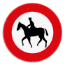 Verkeersbord C15 - Verboden toegang voor ruiters.