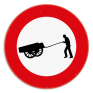 Verkeersbord C17 - Verboden toegang voor bestuurders van handkarren.