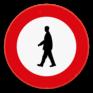 Verkeersbord C19 - Verboden toegang voor voetgangers.