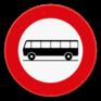 Verkeersbord C22 - Verboden toegang voor bestuurders van autocars.