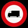 Verkeersbord C23 - Verboden toegang voor bestuurders van voertuigen bestemd of gebruikt voor het vervoer van zaken.