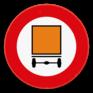 Verkeersbord C24a - Verboden toegang voor bestuurders van voertuigen die gevaarlijke goederen vervoeren.
