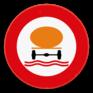 Verkeersbord C24c - Verboden toegang voor bestuurders van voertuigen die gevaarlijke verontreinigende stoffen vervoeren.