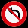 Verkeersbord C31a - Verbod om links af te slaan.