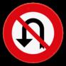 Verkeersbord C33 - Verbod om te keren.