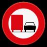 Verkeersbord C39 - Verbod voertuigen met toegelaten massa > 3500 kg in te halen
