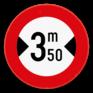 Verkeersbord C27 - Verboden voor voertuigen breder dan het aangeduide.