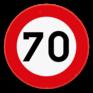 Verkeersbord C43 - Verbod te rijden met een grotere snelheid dan is aangeduid.