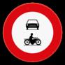 Verkeersbord C5-C7 - Verboden toegang voor bestuurders van motorvoertuigen en motorfietsen.