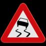 Verkeersbord A15 - Gladde rijbaan - Slipgevaar.