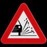 Verkeersbord A17 - Kiezelprojectie.