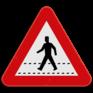 Verkeersbord A21 - Oversteekplaats voor voetgangers.