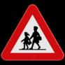 Verkeersbord A23 - Opgelet kinderen.