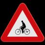 Verkeersbord A25 - Oversteekplaats voor fietsers en bromfietsers.