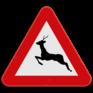 Verkeersbord A27 - Overstekend groot wild.