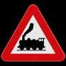 Verkeersbord A43 - Overweg zonder slagbomen.