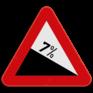 Verkeersbord A3 - Gevaarlijke daling.