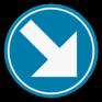 Verkeersbord D1d - Verplichting rechts aanhouden.