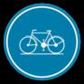 Verkeersbord D7 - Verplicht fietspad.