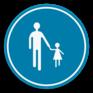 Verkeersbord D11 - Verplichte weg voor voetgangers.