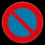 Verkeersbord E1 - Parkeerverbod.