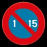 Verkeersbord E5 - Parkeerverbod van de 1e tot de 15e van de maand.