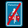 Verkeersbord F113 - Einde fietsstraat.