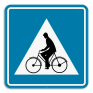 Verkeersbord F50 - Oversteekplaats voor fietsers en bromfietsers.