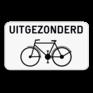 Verkeersbord M2 - Uitgezonderd fietsers.