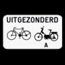 Verkeersbord M3 - Uitgezonderd fietsers en bromfietsers klasse A.