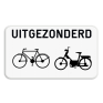 Verkeersbord M3bis - Uitgezonderd fietsers en bromfietsers.