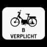 Verkeersbord M6 - Verplichting voor bromfietsen klasse B.