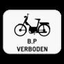 Verkeersbord M16 - Verbod voor bromfietsen klasse B en speed pedelecs.