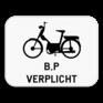 Verkeersbord M14 - Verplichting voor bromfietsen klasse B en Speed pedelecs.